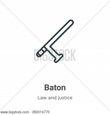 Baton icon isolated on white background from law and justice collection. Baton icon trendy and moder