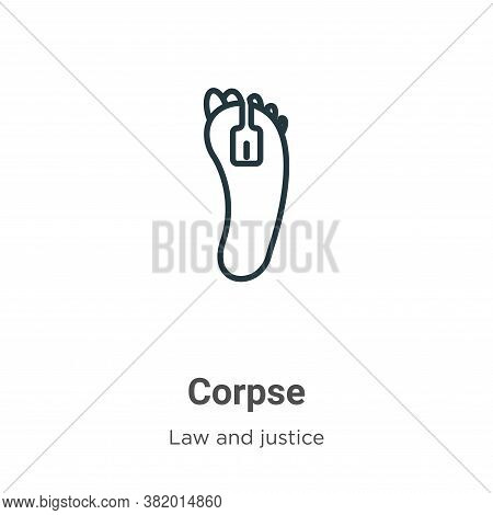 Corpse icon isolated on white background from law and justice collection. Corpse icon trendy and mod
