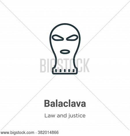 Balaclava icon isolated on white background from law and justice collection. Balaclava icon trendy a