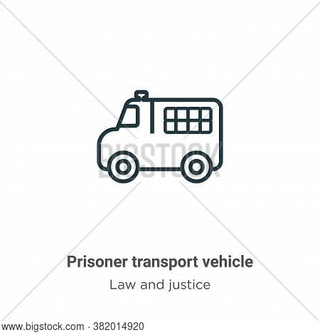Prisoner transport vehicle icon isolated on white background from law and justice collection. Prison