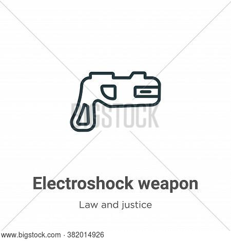 Electroshock weapon icon isolated on white background from law and justice collection. Electroshock
