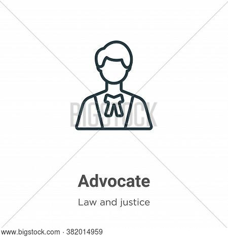 Advocate icon isolated on white background from law and justice collection. Advocate icon trendy and