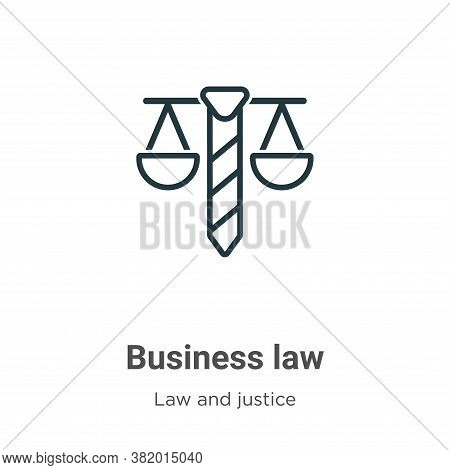 Business law icon isolated on white background from law and justice collection. Business law icon tr