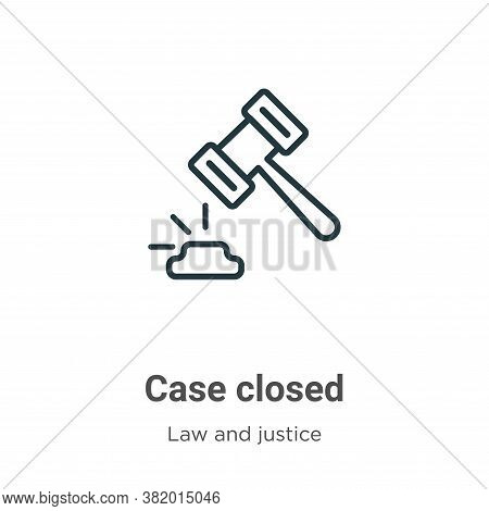 Case closed icon isolated on white background from law and justice collection. Case closed icon tren
