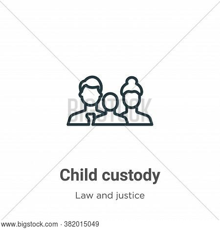 Child custody icon isolated on white background from law and justice collection. Child custody icon