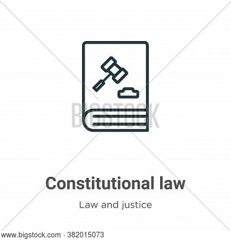 Constitutional law icon isolated on white background from law and justice collection. Constitutional