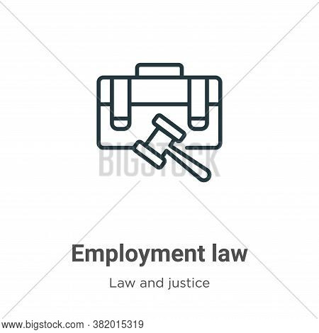 Employment law icon isolated on white background from law and justice collection. Employment law ico