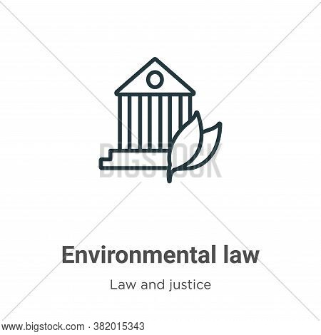Environmental law icon isolated on white background from law and justice collection. Environmental l