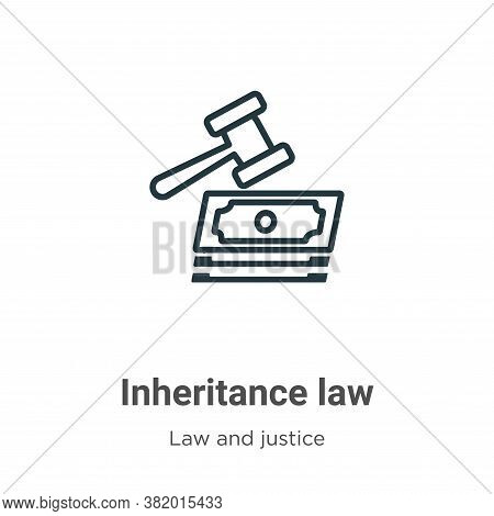 Inheritance law icon isolated on white background from law and justice collection. Inheritance law i