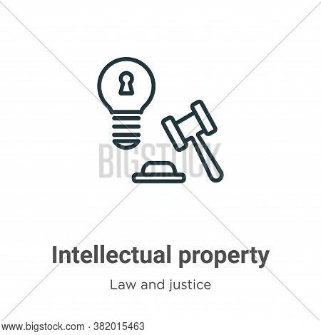 Intellectual property icon isolated on white background from law and justice collection. Intellectua