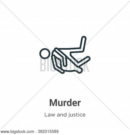 Murder icon isolated on white background from law and justice collection. Murder icon trendy and mod
