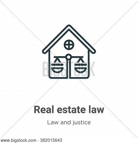 Real estate law icon isolated on white background from law and justice collection. Real estate law i
