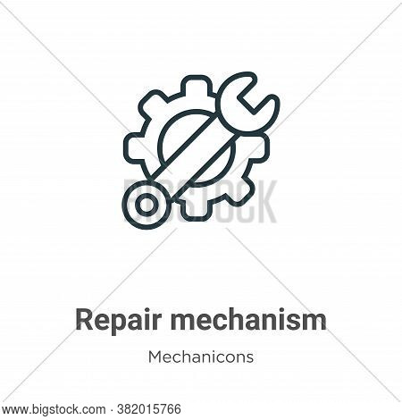 Repair mechanism icon isolated on white background from mechanicons collection. Repair mechanism ico