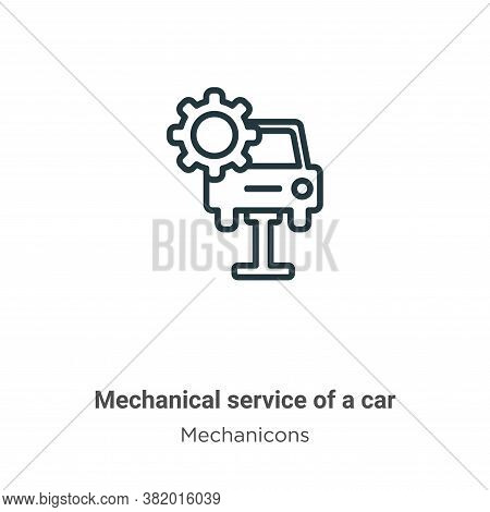 Mechanical service of a car icon isolated on white background from mechanicons collection. Mechanica