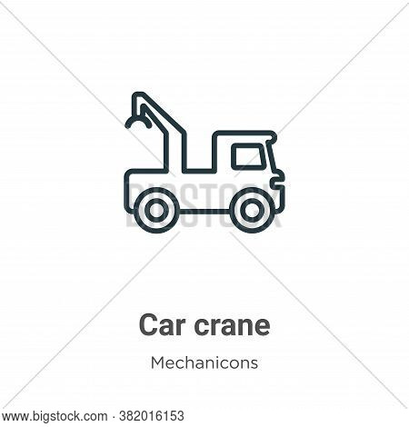 Car crane icon isolated on white background from mechanicons collection. Car crane icon trendy and m