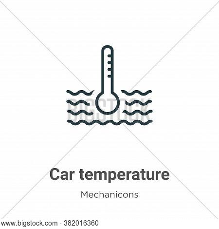 Car temperature icon isolated on white background from mechanicons collection. Car temperature icon