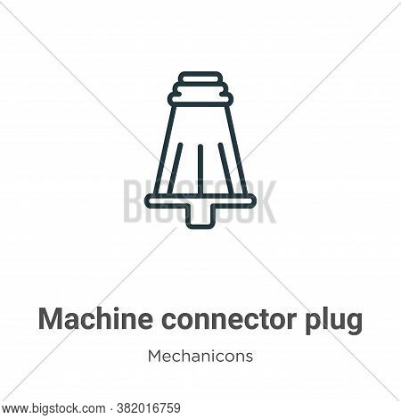 Machine connector plug icon isolated on white background from mechanicons collection. Machine connec