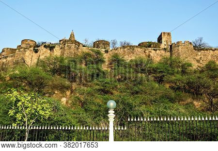 View Of Moti Dungri Fort, An Ancient Fortress Of The 16th Century In Jaipur, India