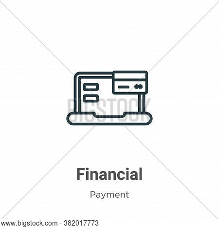 Financial icon isolated on white background from payment methods collection. Financial icon trendy a