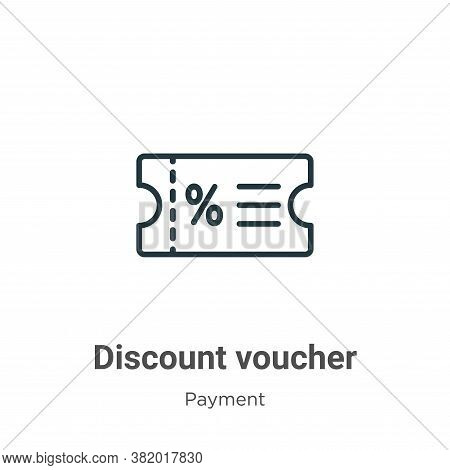 Discount voucher icon isolated on white background from payment methods collection. Discount voucher