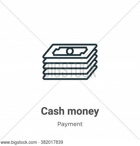 Cash money icon isolated on white background from payment methods collection. Cash money icon trendy