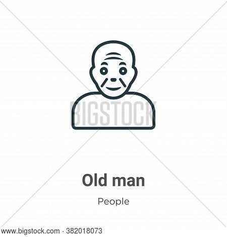 Old man icon isolated on white background from people collection. Old man icon trendy and modern Old