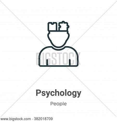 Psychology icon isolated on white background from people collection. Psychology icon trendy and mode