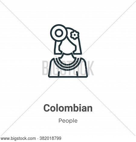 Colombian icon isolated on white background from people collection. Colombian icon trendy and modern