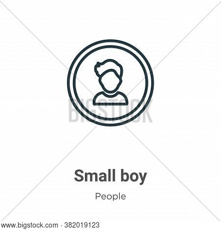 Small boy icon isolated on white background from people collection. Small boy icon trendy and modern