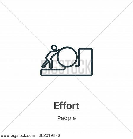 Effort icon isolated on white background from people collection. Effort icon trendy and modern Effor