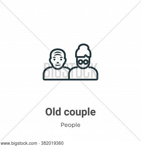 Old couple icon isolated on white background from people collection. Old couple icon trendy and mode