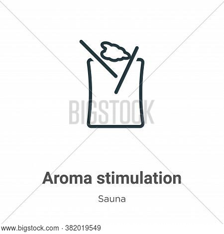 Aroma stimulation icon isolated on white background from sauna collection. Aroma stimulation icon tr
