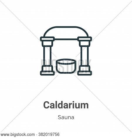 Caldarium Icon From Sauna Collection Isolated On White Background.