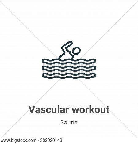 Vascular workout icon isolated on white background from sauna collection. Vascular workout icon tren