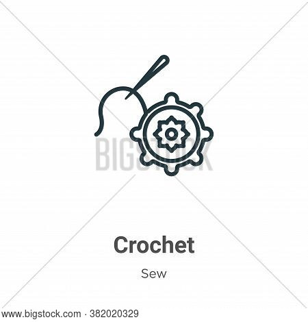 Crochet icon isolated on white background from sew collection. Crochet icon trendy and modern Croche