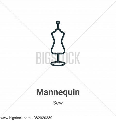 Mannequin icon isolated on white background from sew collection. Mannequin icon trendy and modern Ma