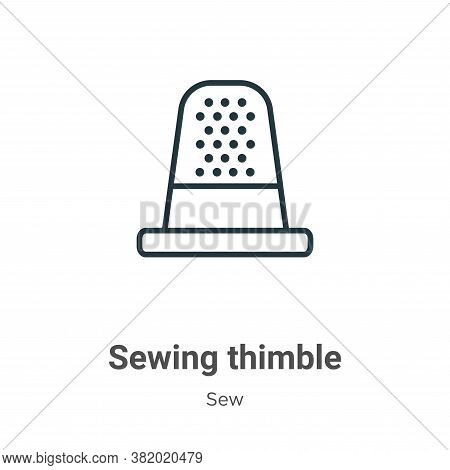 Sewing thimble icon isolated on white background from sew collection. Sewing thimble icon trendy and