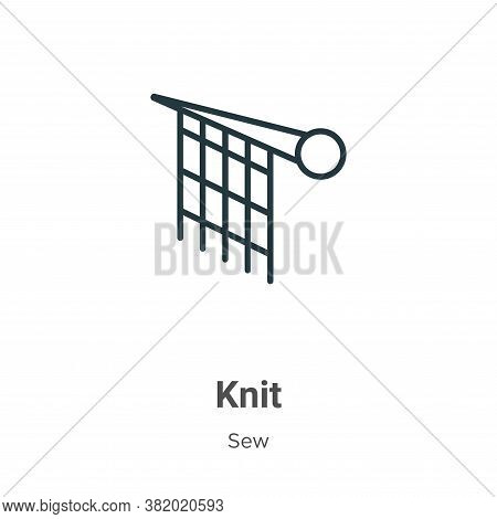 Knit icon isolated on white background from sew collection. Knit icon trendy and modern Knit symbol