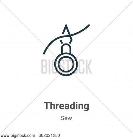 Threading icon isolated on white background from sew collection. Threading icon trendy and modern Th