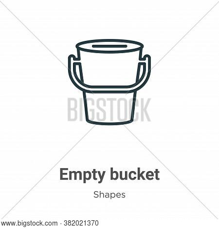 Empty bucket icon isolated on white background from shapes collection. Empty bucket icon trendy and