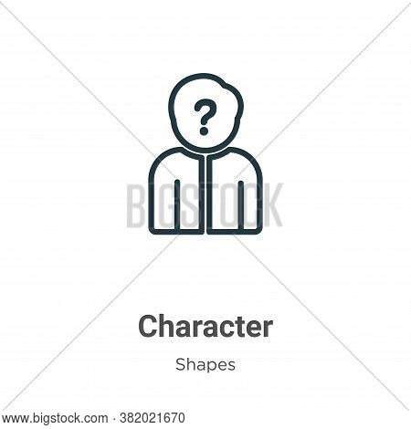 Character icon isolated on white background from shapes collection. Character icon trendy and modern