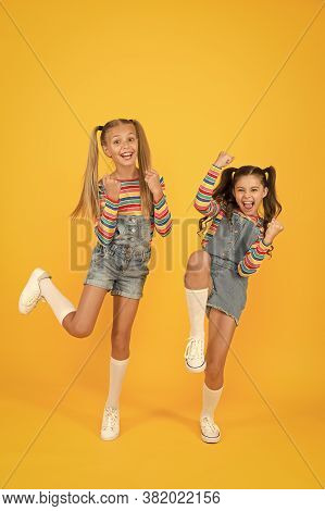 Free And Energetic Beauty. Happy Childhood. Real Friendship. Best Friends Forever. Small Sisters Hav