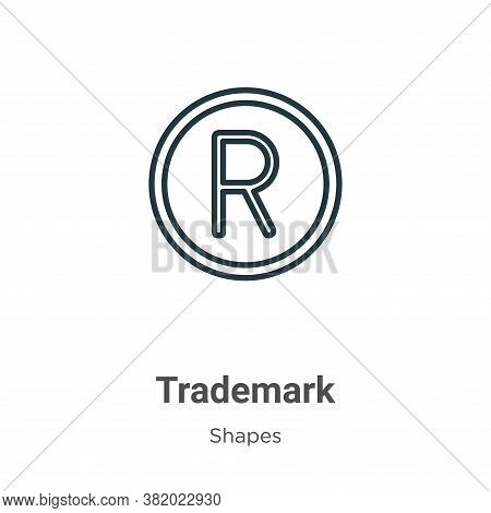 Trademark icon isolated on white background from shapes collection. Trademark icon trendy and modern