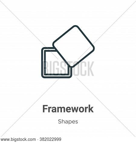 Framework Icon From Shapes Collection Isolated On White Background.