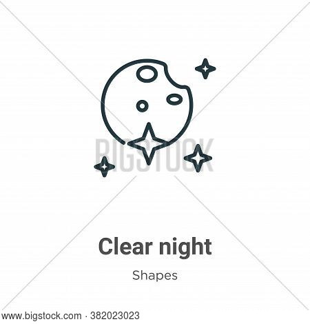 Clear night icon isolated on white background from shapes collection. Clear night icon trendy and mo