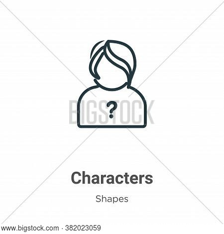 Characters icon isolated on white background from shapes collection. Characters icon trendy and mode