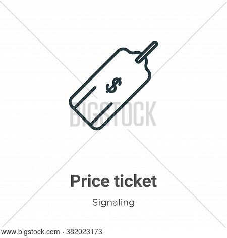 Price ticket icon isolated on white background from signaling collection. Price ticket icon trendy a