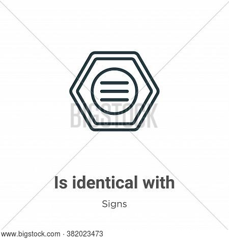 Is identical with icon isolated on white background from signs collection. Is identical with icon tr