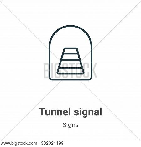 Tunnel signal icon isolated on white background from signs collection. Tunnel signal icon trendy and