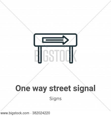 One way street signal icon isolated on white background from signs collection. One way street signal